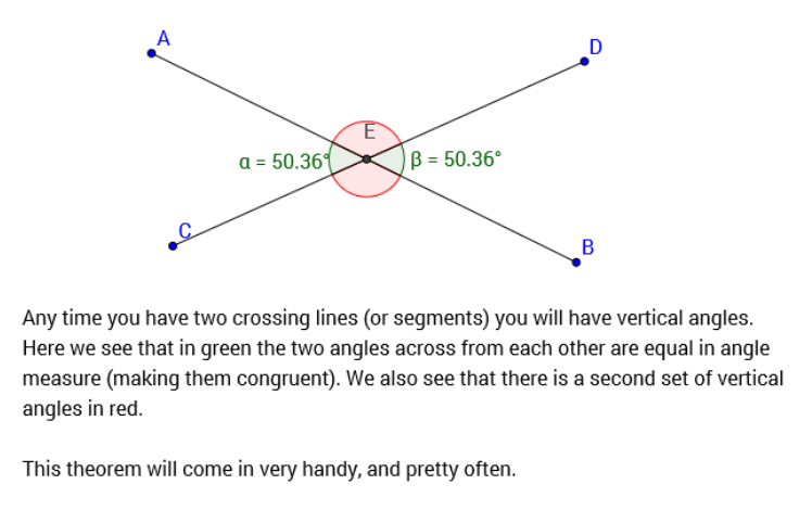 Vocabulary mr marchetticentral high knights for Consecutive exterior angles theorem